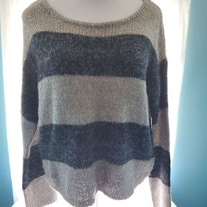 Women's striped sequin sweater